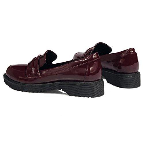 Loafers KemeKiss Claret Casual Women Pumps wqx0A8S