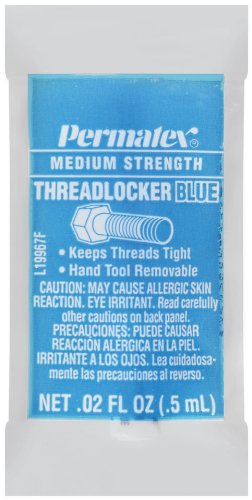 Permatex 19967 Medium Strength Threadlocker Blue, 0.5 ml Pipette, Pack of 480 by Permatex