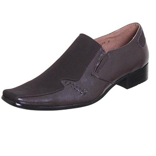 Mens Italian Style Designer Inspired Smart Office Formal Wedding Slip On Shoes Brown VxfnzLi