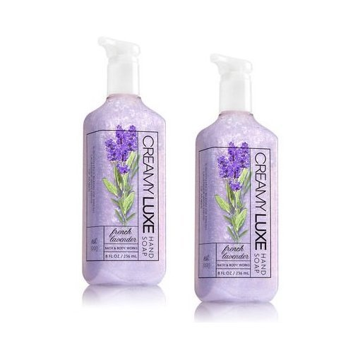 Bath and Body Works 2 Pack French Lavender Creamy Luxe Hand Soap. 8 Oz (Lavender Creamy)