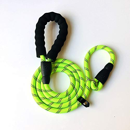 ERPANG Traction Belt, Nylon Thickening Traction Belt, P Chain, Reflective Traction Belt, Suitable for Large and Medium Dogs,Green,1.8m