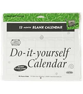 Amazon blank calendars 13 months scrapbooking paper do it yourself blank calendar 13 months solutioingenieria Images