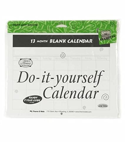 Amazon do it yourself blank calendar 13 months do it yourself blank calendar 13 months solutioingenieria Gallery