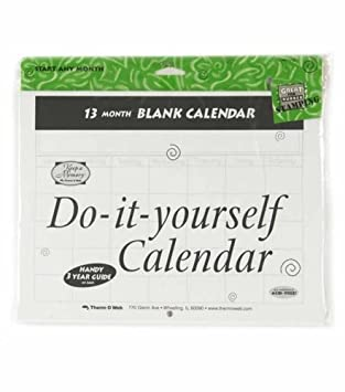 Amazon do it yourself blank calendar 13 months do it yourself blank calendar 13 months solutioingenieria Images