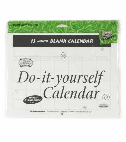 Amazon Com Do It Yourself Blank Calendar 13 Months Arts Crafts