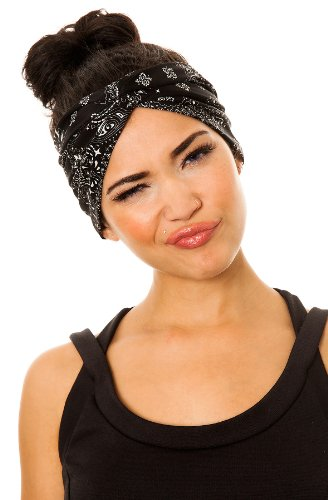 Amazon.com   See You Monday Women s Black Bandana Turban (Exclusive) One  Size Black   Fashion Headbands   Beauty 6c5c72cec