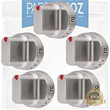 DG64-00347A (5-Pack) Range Dial Knob by PartsBroz - Compatible with Samsung Range Oven - Replaces DG64-00472A, AP5949480, PS10058981