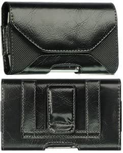 Bloutina Leather And Fabric Case Pouch Black For Motorola Droid X With Skin