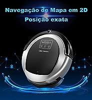 Aspirador de pó Robótico LIECTROUX B6009, 2D Mapa & Giroscópio de Navegação, com a Memória, Baixa Repetição, Bloqueador de Vi