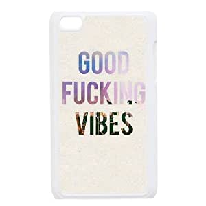 Personalized New Print Case for Ipod Touch 4, Good Vibes Phone Case - HL-504926