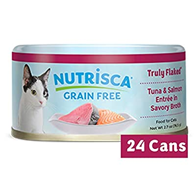 NUTRISCA Wet Cat Food for Adult Cats with Whole Shredded Meat & Fish