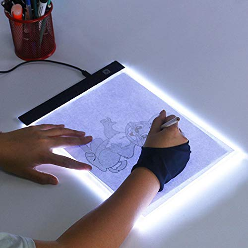 bulges Ultra-Thin(4mm) Portable LED Copy Station Painting Board for Artist Animation Sketching Architecture Calligraphy