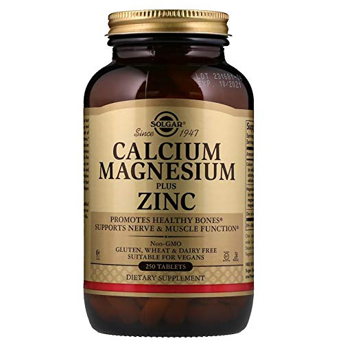 Solgar - Calcium Magnesium Plus Zinc, 250 Tablets