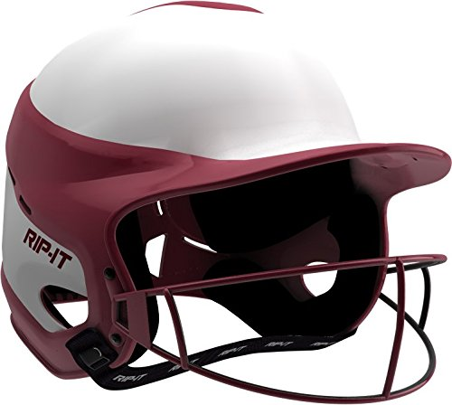 RIP-IT Vision Pro Softball Helmet ft. Blackout Technology (Maroon, Small/Medium)