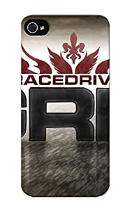 Crazinesswith Rugged Skin Case Cover For Iphone 5/5s- Eco-friendly Packaging(race Driver Grid)