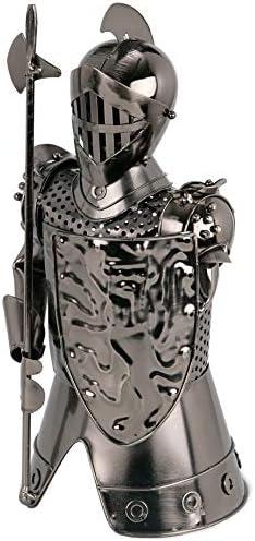 [Gesponsert]BRUBAKER Flaschenhalter Ritter Metall Skulptur Geschenk mit Geschenkkarte