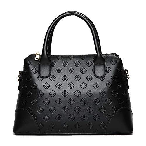 tracolla Shopping Borse Donna Rosso Nero a AgooLar Borse GMMBA222086 Luccichio qTxRB5qfwY