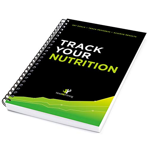 NewMe Fitness Nutrition Food Logbook, Journal and Meal Planner with 132 Tracking Pages :: Simple Daily Tracker for Calories, Water, Sleep & Weight :: Reach Your Diet Goals Faster