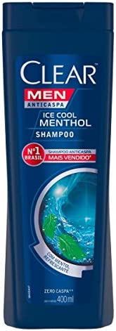Shampoo Anticaspa Clear Men Ice Cool Menthol 400ml