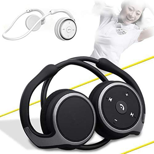 Ruior Foldable Sports Music Over-Ear Headphones Bluetooth Headset with Mic Headphones