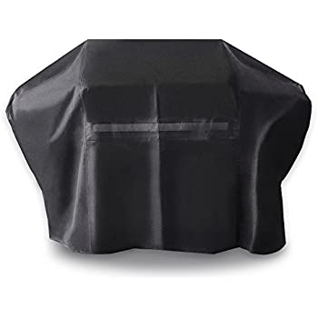 iCOVER-Grill-Cover- 60 Inch UV Resistant 600D Heavy-Duty Water Proof Patio Outdoor Canvas BBQ Cover Barbecue Smoker Grill Cover for Weber Char-Broil ...