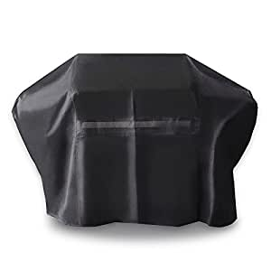 UV PROTECTION iCOVER 60 Inch Heavy-Duty water proof patio outdoor black oxford BBQ Barbecue Smoker/Grill Cover G21604 for weber char-broil Brinkmann Holland and JennAir