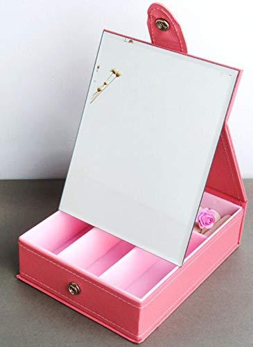 Mirror Hd Folding Mirror Large Dressing Princess Mirror Simple Modern Desktop Dormitory Desk Home Portable,Pink,24185.5CM