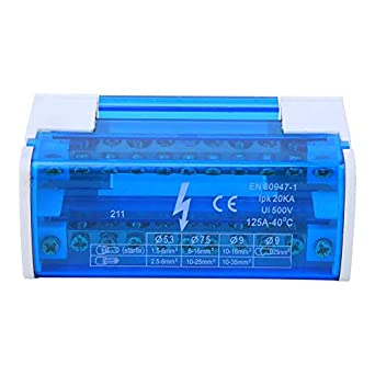 Terminal Junction Box Din Rail 2-Level Single Phase with Transparent Dust Cover