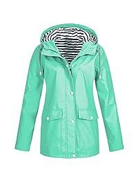 AIEason-Blusa para Mujer, Chamarra Impermeable para el Aire última intervensión, con Capucha, Resistente al Viento