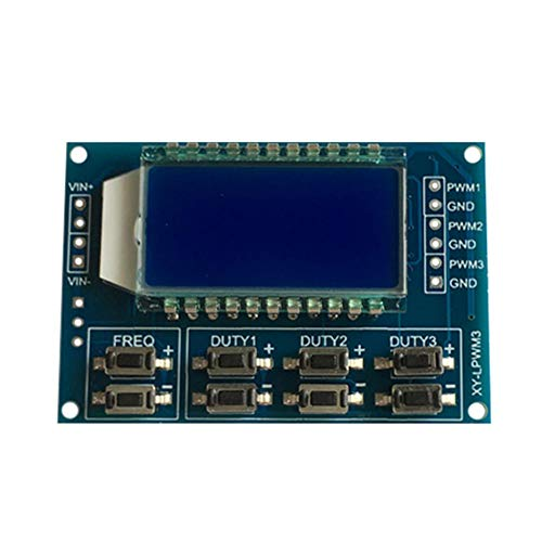 Eachbid LCD Digital Pulse Frequency 1 hz ~ 150 KHZ Adjustable Square Wave Signal ()