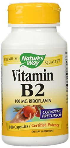 Nature's Way Vitamin B2 100 mg Riboflavin, 100 Capsules (Pack of 2)