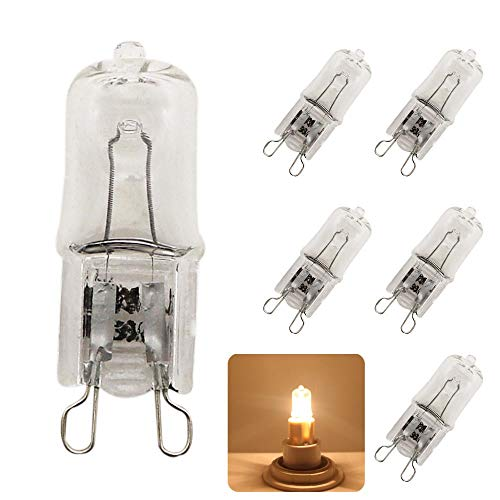 Xucus 5X Quality 25W 40W 60W G9 2800-3000K Halogen Lamp Bulb 220V Capsule Clear Warm White Lights 220-230V - (Emitting Color: Warm White, Wattage: 25w) ()