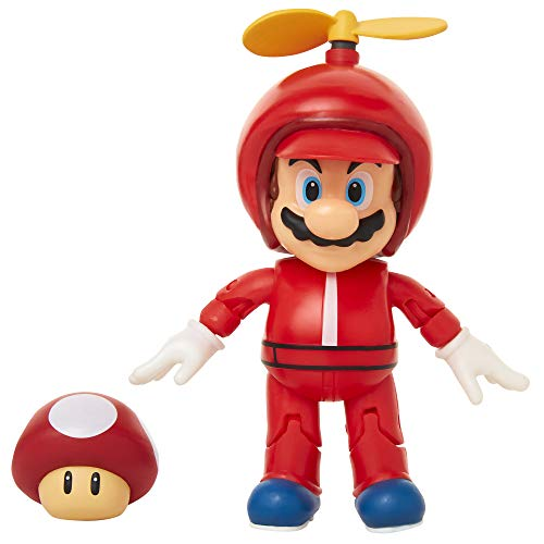 World of Nintendo 4″ Propeller Mario Action Figure with Coin Action Figure