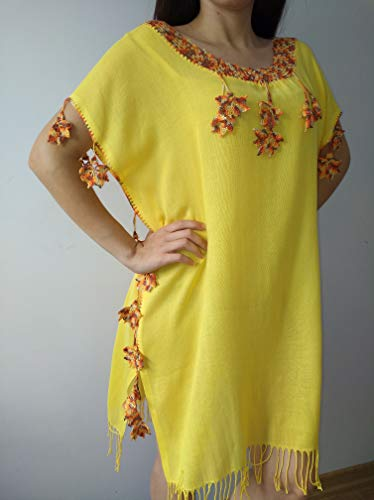 yellow dress Coton dress Handmade handcraft tunic,dresses maxi,midi and mini with different colours embroidered bohemian dress by softdresshandmade