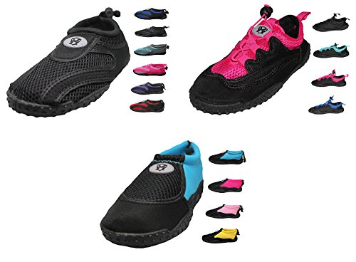 Greg Michaels Womens Water Shoes Aqua Socken - Hohe Haltbarkeit, angenehm zu tragen in Wasser und auf der Oberfläche Schwarz Schwarz