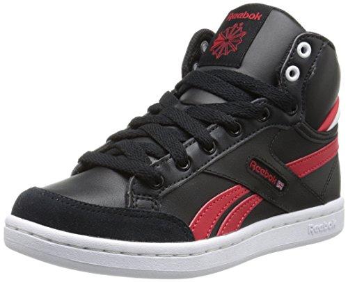 Reebok Arena Pro Mid PS Classic Shoe (Little Kid),Black/Red Rush/White,3 M US Little Kid