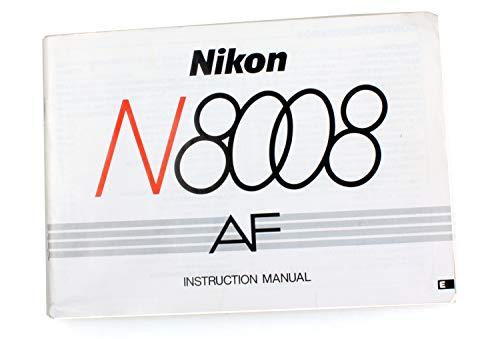 Nikon N8008 AF Camera Manual for sale  Delivered anywhere in USA