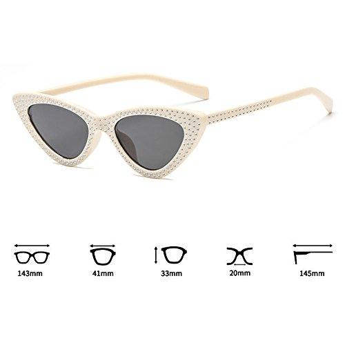 Mujeres Eye Cat Triángulo Sunglasses UV400 pequeño C8 Gafas juqilu Anteojos Cool Marco X0HCw