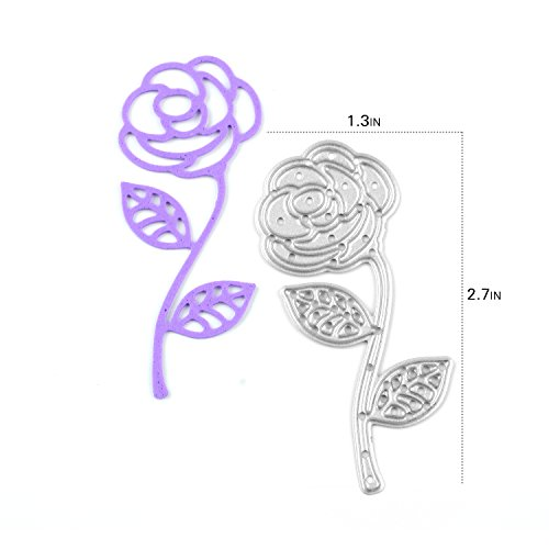 Enipate ROSE Cutting Dies Carbon Steel Stencil Metal DIY Template