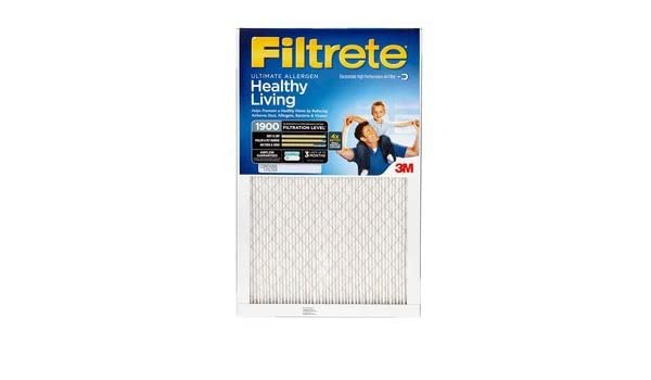 2 Pack 20x25x1 Filtrete Ultimate Allergen Reduction 1900 Filter by 3M 19.7 x 24.7