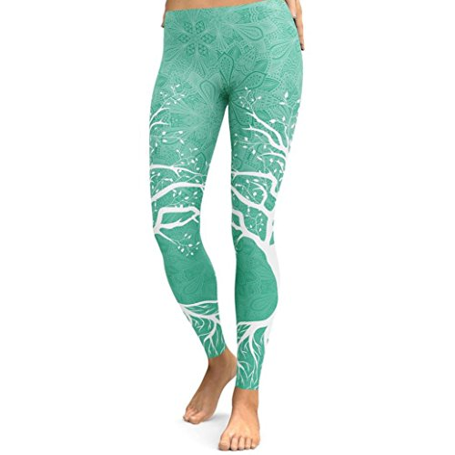 Pocciol Pants, Women s Colorful Printed You May Like Sports Yoga Workout  Gym Fitness Athletic Clothes 158a8617008