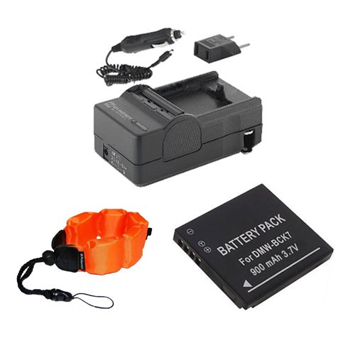 Panasonic Lumix DMC-TS25 Digital Camera Accessory Kit includes: ZE-FS10-OR Underwater Accessories, SDBCK7 Battery, SDM-1540 Charger