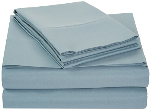 AmazonBasics Microfiber Sheet Set - King, Spa ()