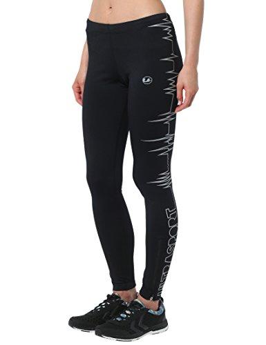 Ultrasport Damen Laufhose Ultra Visible Heartbeat, sicher und bequem, mit Reflektor-Vollprints