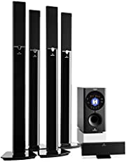 auna Areal 653 - Home Cinema 5.1 , Sistema Sonido Surround , Concept 620 Envolvente , Rendimiento 145W RMS , Subwoofer sidefiring , Altavoces satélite, Bassreflex , Bluetooth , USB , SD , AUX , Negro