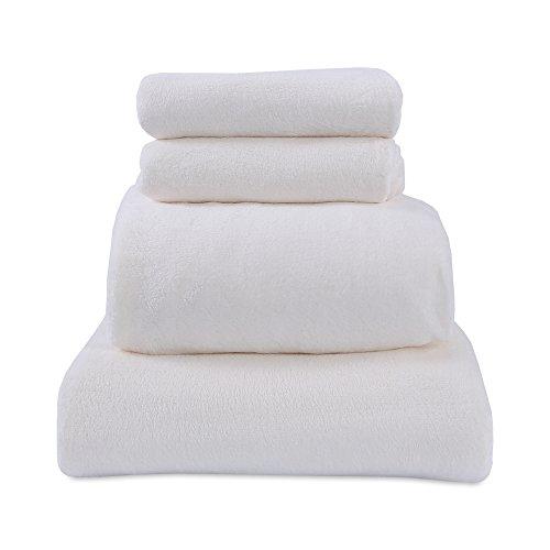 Berkshire Blanket Serasoft Set Plush Sheets, Eastern King, Marshmallow