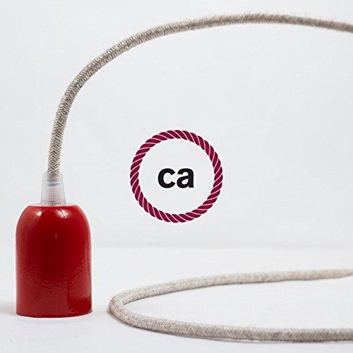 2x0.75 Creative-Cables Fil /Électrique Rond Gaine De Lin De Couleur Naturel Neutre RN01-1 m/ètre