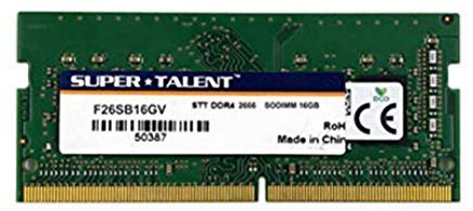 Super Talent DDR4-2666 SODIMM 16GB Value Notebook Memory PC Memory F26SB16GV