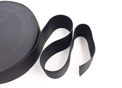 Flat Knitting Sewing Stretch Rope 2 Pack 10 Yard 1.5 Inch Wide Elastic Spool Black/&White Magnolora Springy Stretch Knitting Sewing Elastic Bands