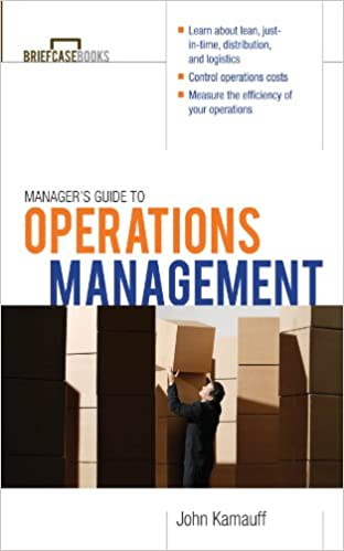 Amazon com: Manager's Guide to Operations Management